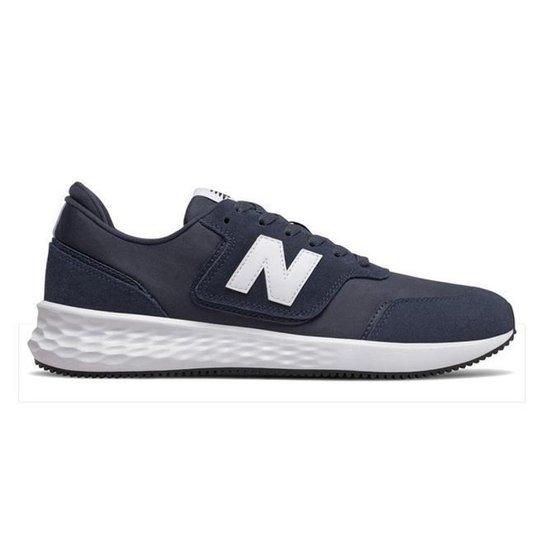 Tênis New Balance X70 Masculino - Bege+Preto - 44 - Marinho+Branco
