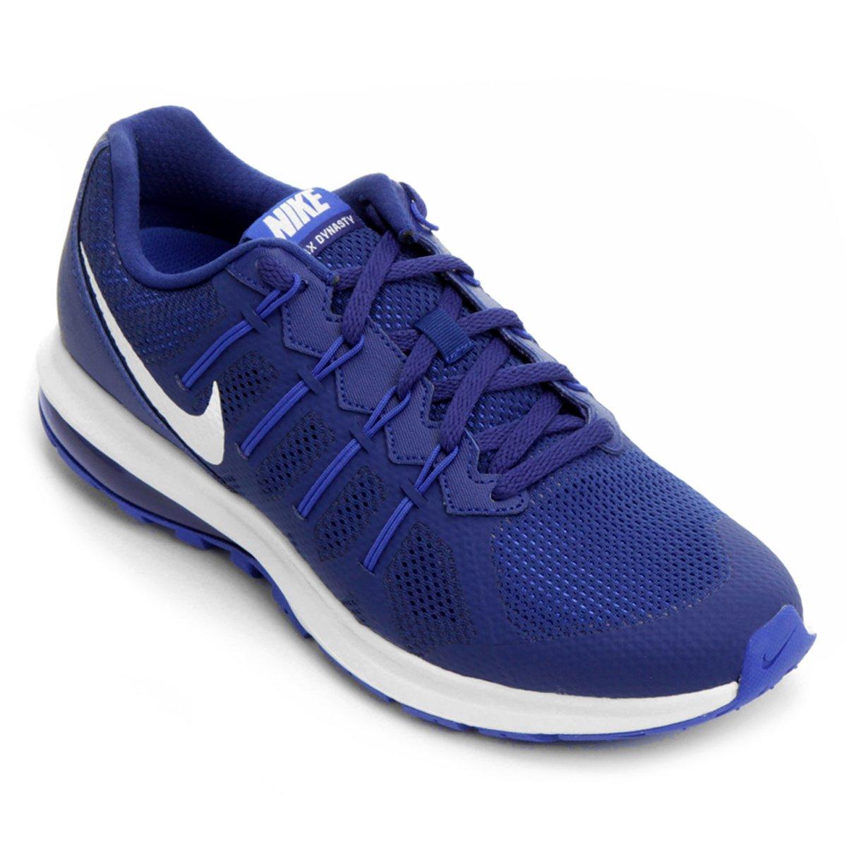 tenis nike azul e branco