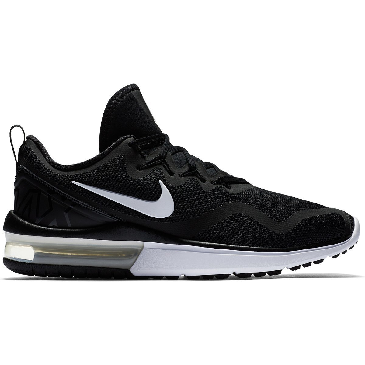 t nis nike air max fury masculino preto e branco compre agora netshoes. Black Bedroom Furniture Sets. Home Design Ideas