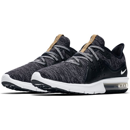 Tênis Nike Air Max Fury Sequent 3 Feminino - Preto e Branco | Netshoes