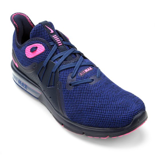 Tênis Nike Air Max Fury Sequent 3 Feminino - Azul+Rosa