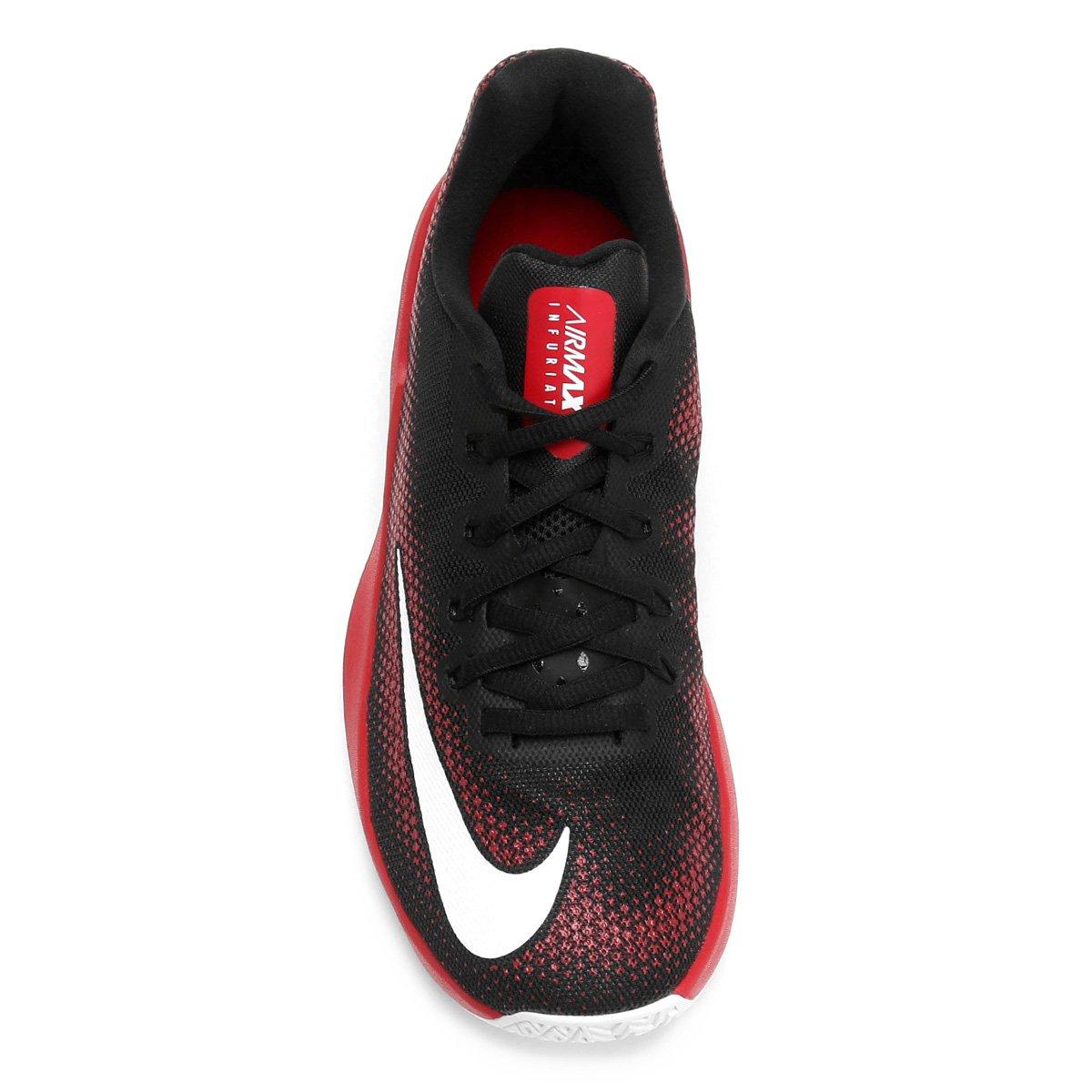 7aa9a4dc08 Tênis Nike Air Max Infuriate Low Masculino - Preto e Vermelho ...