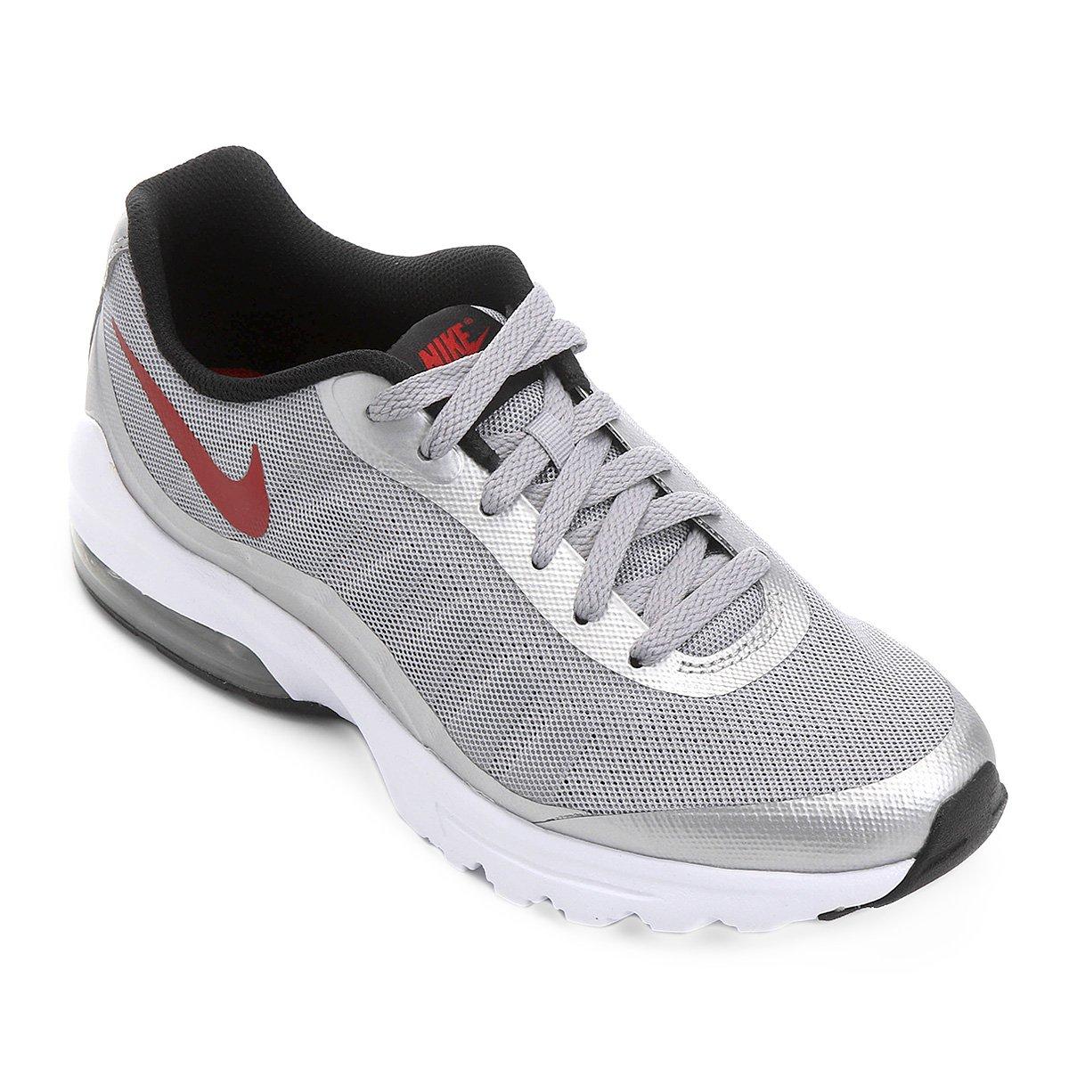 87c1613a21 Tênis Nike Air Max Invigor Masculino - Cinza e Vermelho - Compre Agora