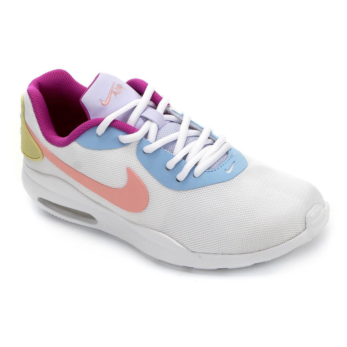 Tênis Nike Air Max Oketo Feminino Branco E Roxo