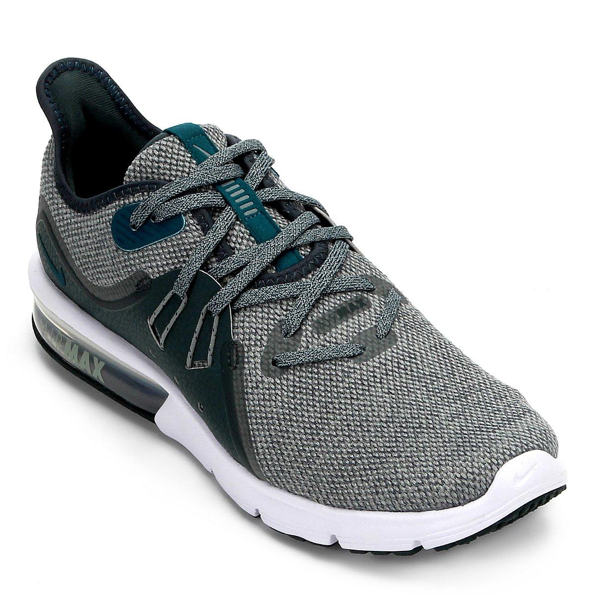 promo code b8d5e 5154e Tênis Nike Air Max Sequent 3 Masculino - Verde e Cinza - Compre Agora   Netshoes