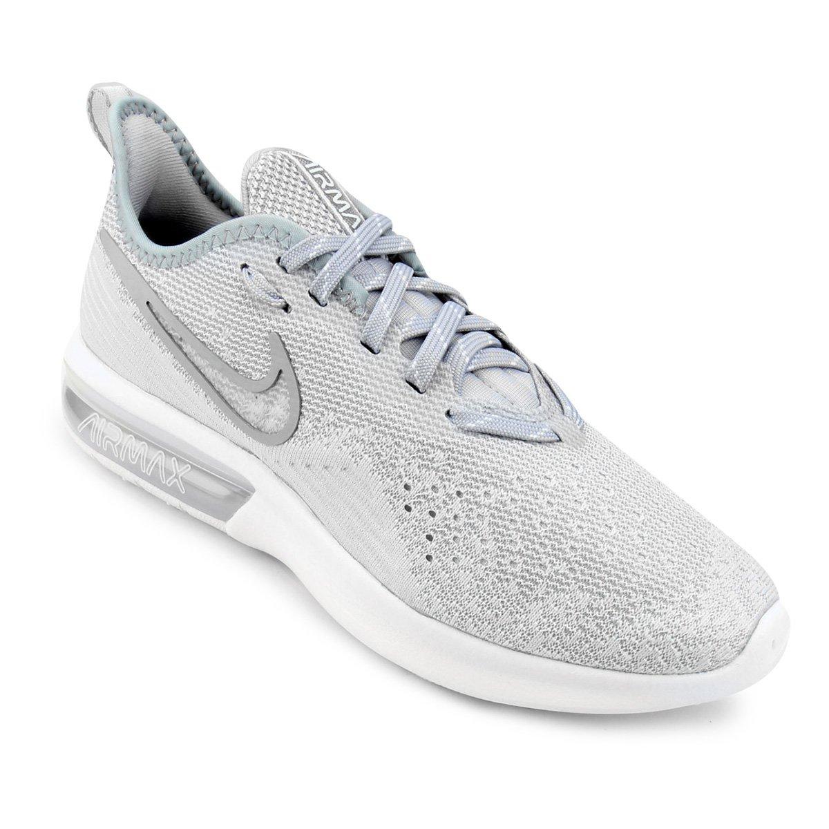 dd8363cff62a9 Tênis Nike Air Max Sequent 4 Feminino - Cinza e Branco - Compre Agora