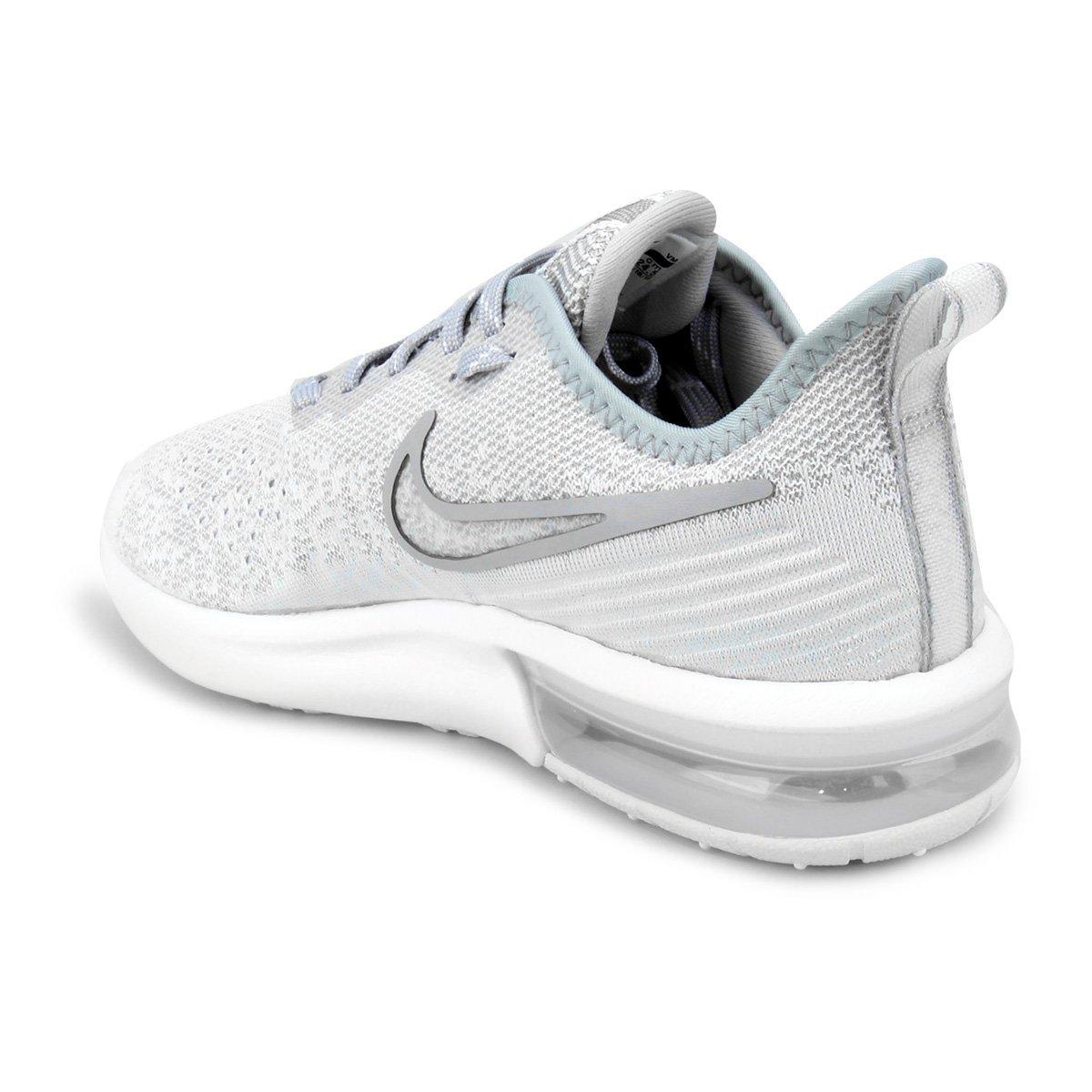 Tênis Nike Air Max Sequent 4 Feminino - Cinza e Branco - Compre ... 1b765d311607d