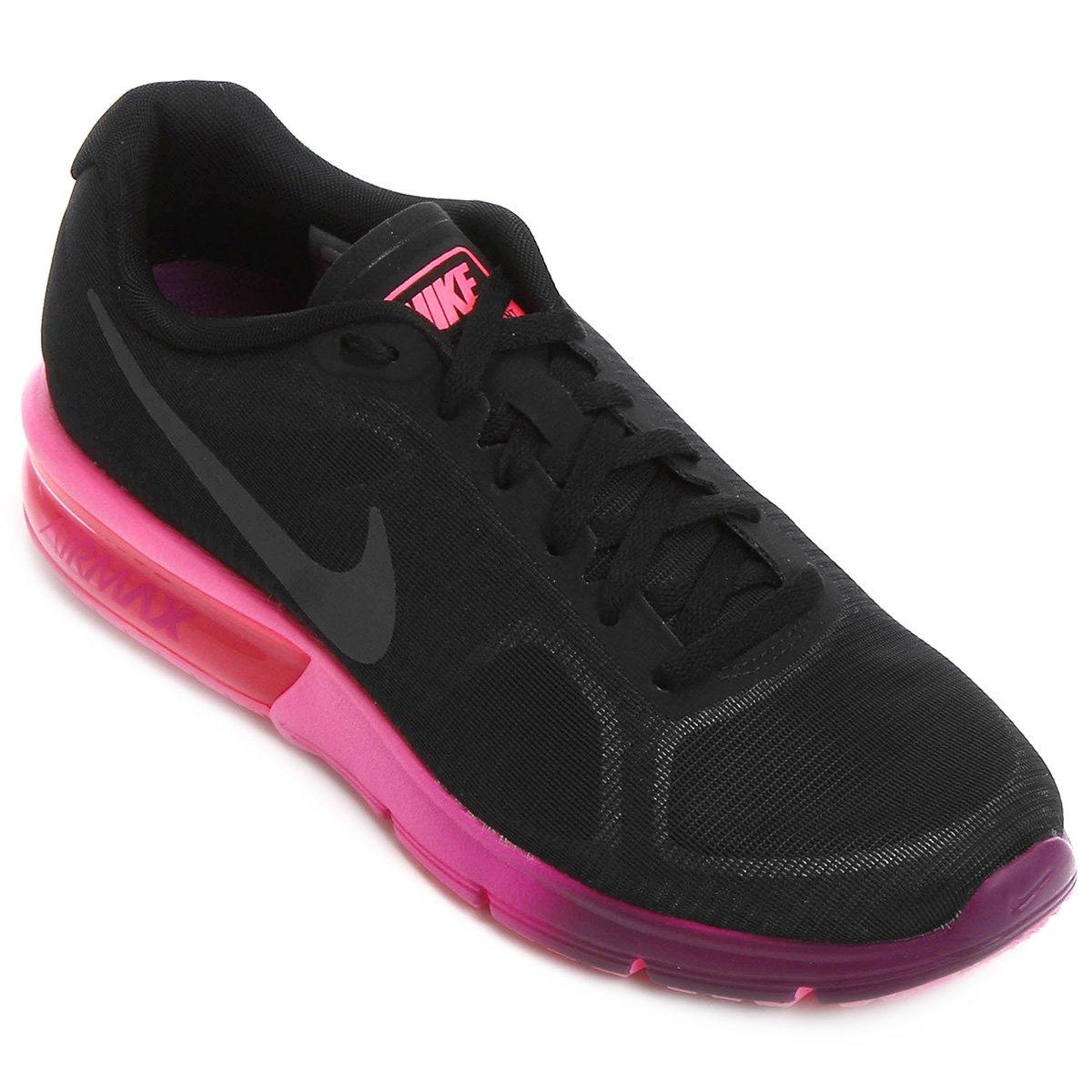 5f0bab7b5 Tenis Nike Feminino Casual Preto E Rosa - naturallycurlye.com