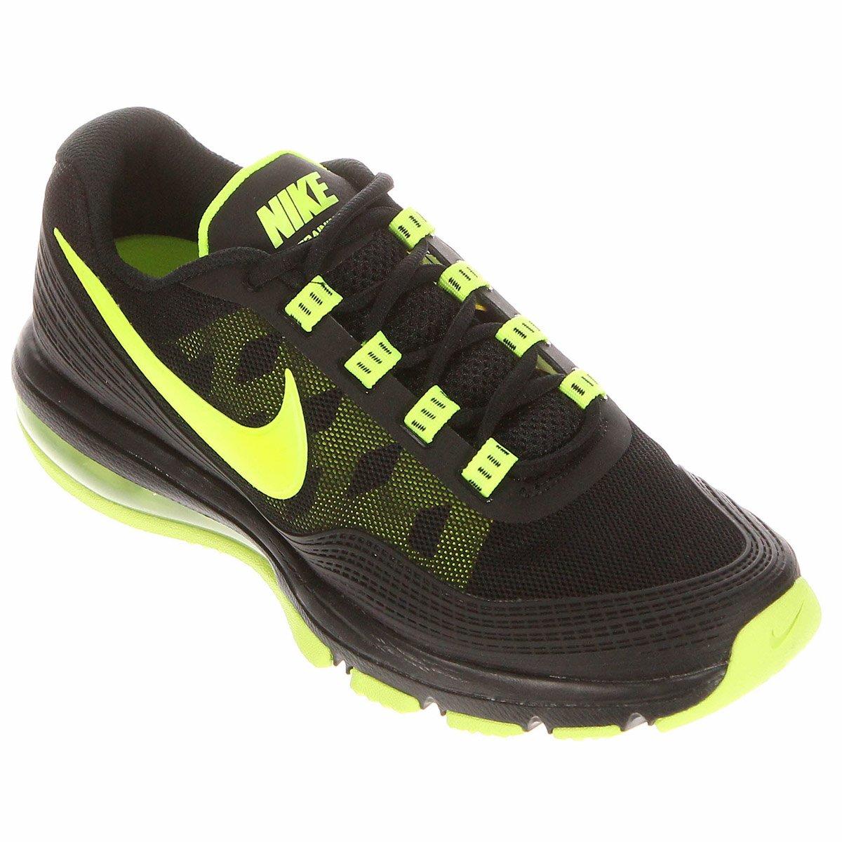 Tênis Nike Air Max TR 365 Preto e Verde Limão