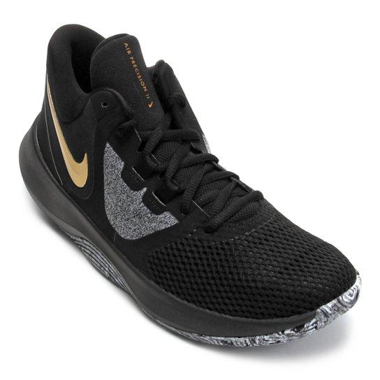 Tênis Nike Air Precision II Masculino - Preto+Dourado