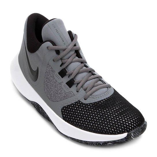Tênis Nike Air Precision II Masculino - Cinza+Preto