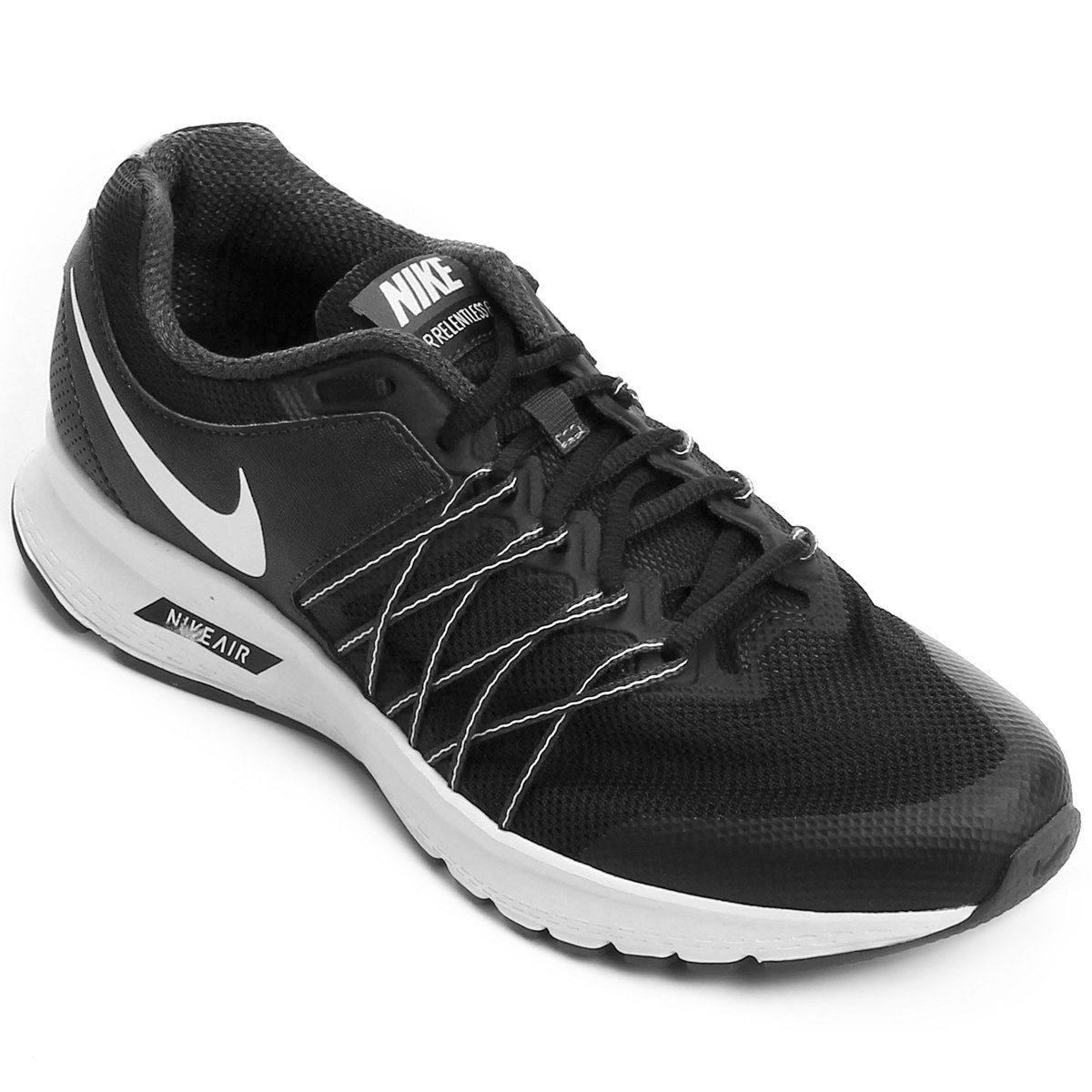 Tênis Nike Air Relentless 6 MSL Feminino - Preto e Branco - Compre ... 099c1be92d504