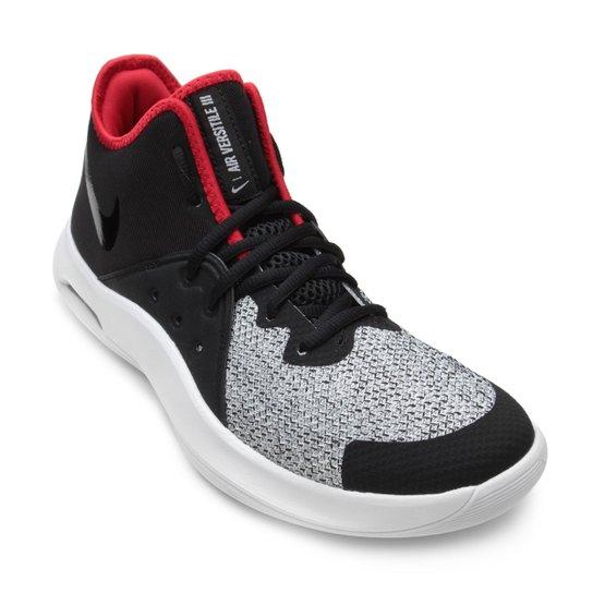 Tênis Nike Air Versitile III Masculino - Preto+Vermelho