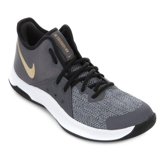Tênis Nike Air Versitile III Masculino - Preto+Dourado