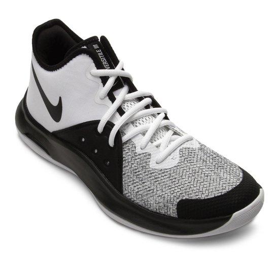 Tênis Nike Air Versitile III Masculino - Branco+Preto