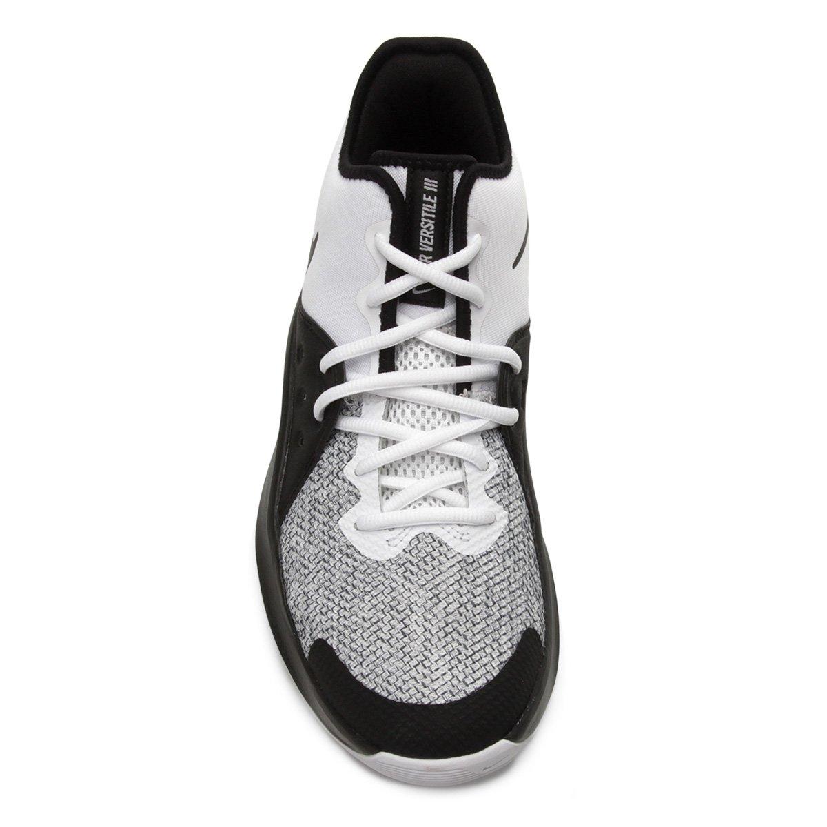 Tênis Nike Air Versitile III Masculino - Branco e Preto - Compre ... ddd265e80fcc4