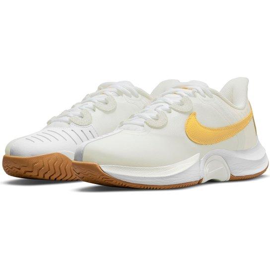 Tênis Nike Air Zoom Gp Turbo Feminino - Branco+dourado