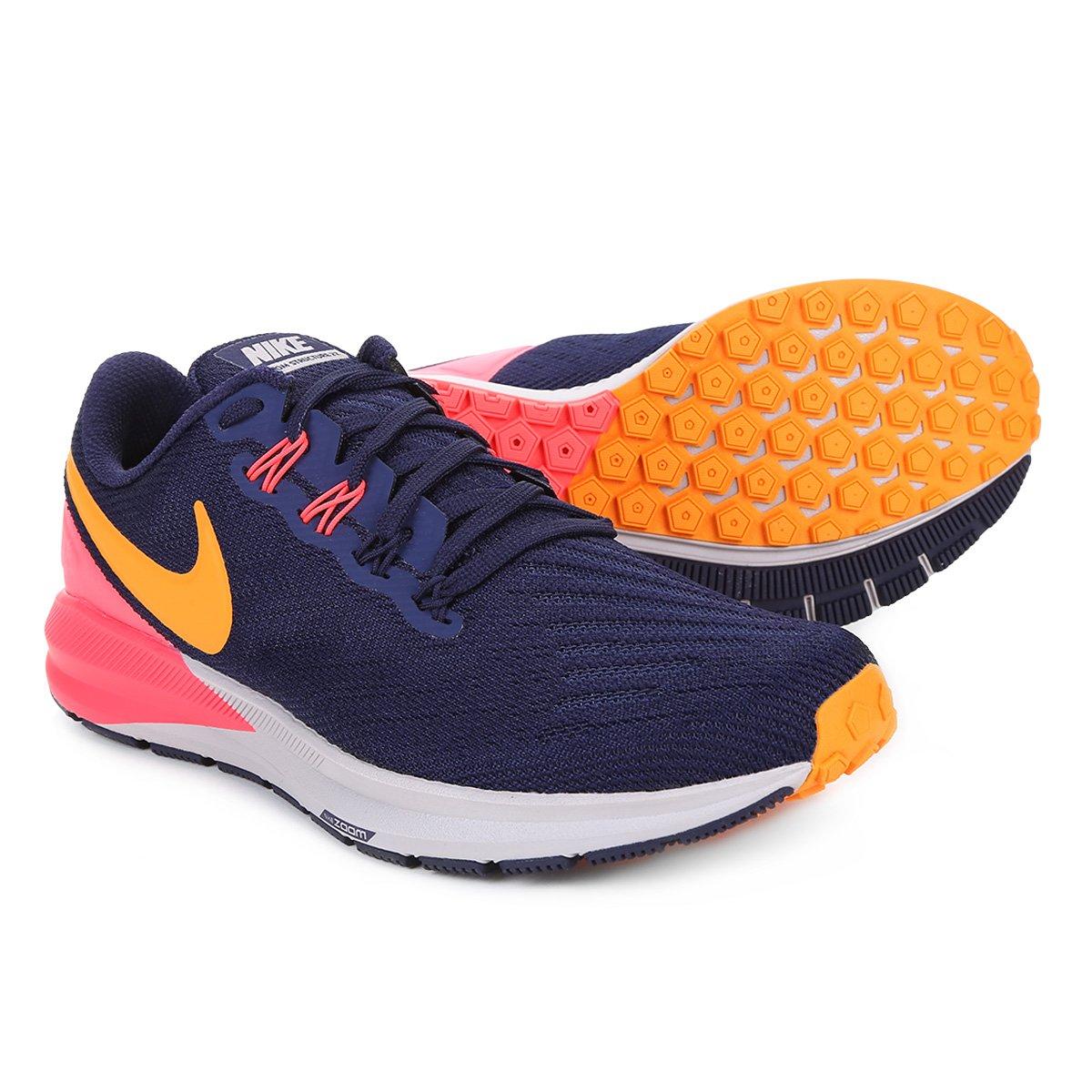 98e15022a9a Tênis Nike Air Zoom Structure 22 Feminino - Azul e Rosa - Compre Agora