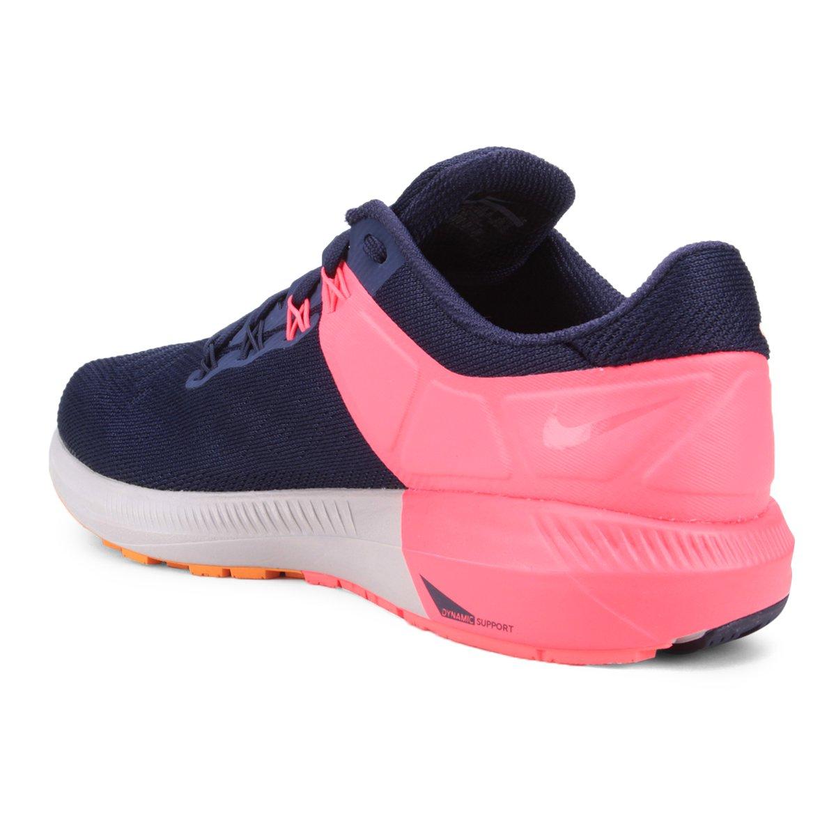 Tênis Nike Air Zoom Structure 22 Masculino - Azul e Laranja - Compre ... 66c198be486f5