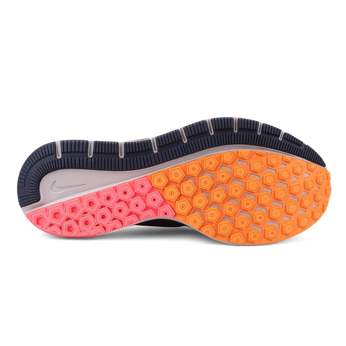 af14b967b7 Tênis Nike Air Zoom Structure 22 Masculino - Azul e Laranja - Compre ...