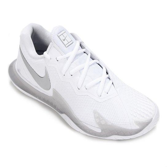 Tênis Nike Air Zoom Vapor Cage 4 HC Feminino - Branco+prata