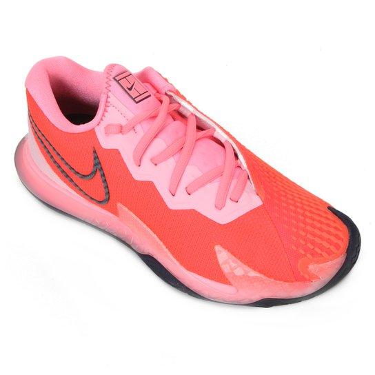 Tênis Nike Air Zoom Vapor Cage 4 HC Feminino - Vermelho+Rosa