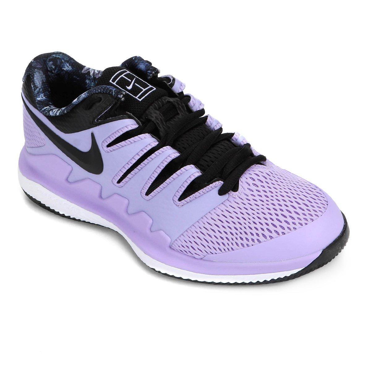 Tênis Nike Air Zoom Vapor X Feminino Roxo E Preto