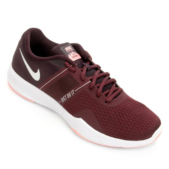 Tênis Nike City Trainer 2 Feminino - Vinho+Prata