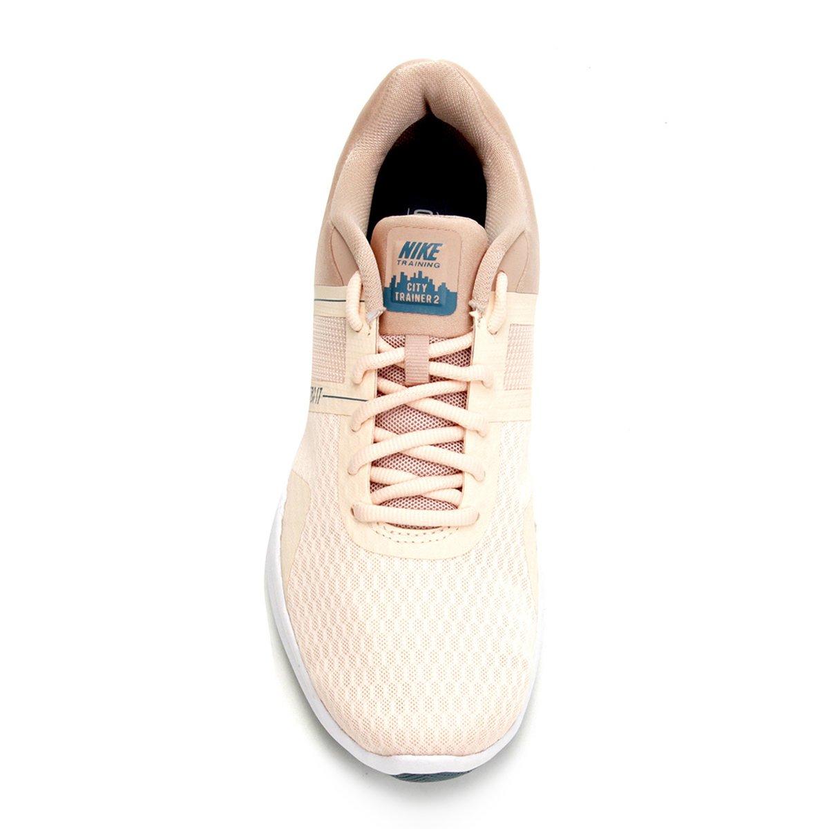 Tênis Nike City Trainer 2 Feminino - Bege e Verde - Compre Agora ... f0b226386c82e