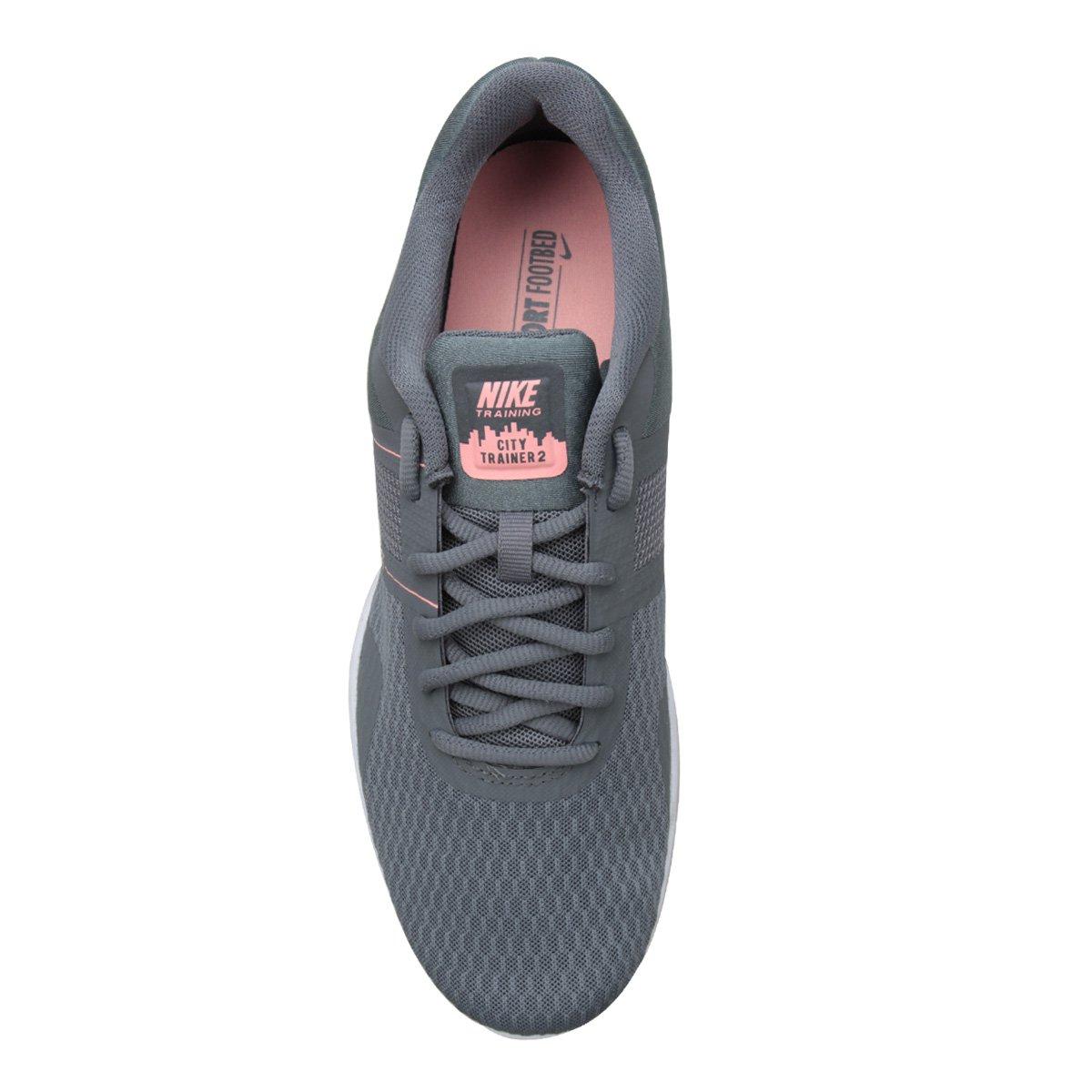 Tênis Nike City Trainer 2 Feminino - Cinza e Rosa - Compre Agora ... d25ff93775685