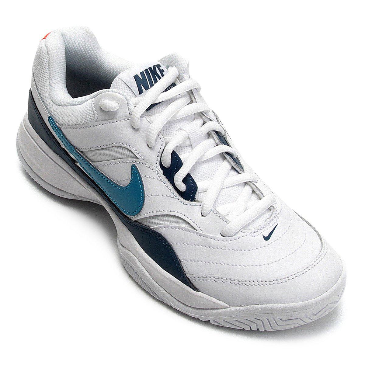 f9624cb4b352d Tênis Nike Court Lite Masculino - Branco e Verde - Compre Agora ...