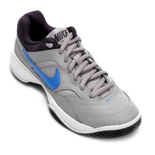 Tênis Nike Court Lite Masculino - Cinza+Azul Claro