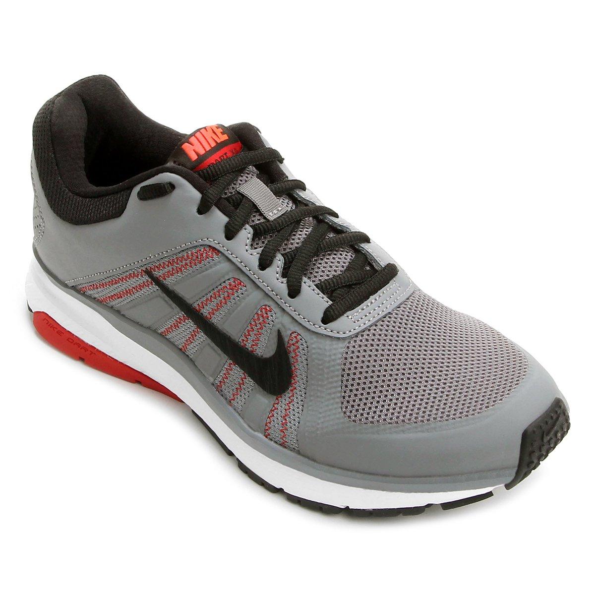 77ba251ebb3f5 Tênis Nike Dart 12 MSL Masculino - Cinza e Preto - Compre Agora ...