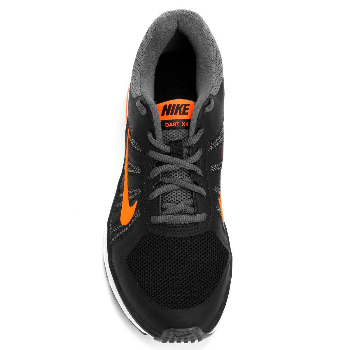 066b2ee895 Tênis Nike Dart 12 MSL Masculino - Preto e Laranja - Compre Agora ...