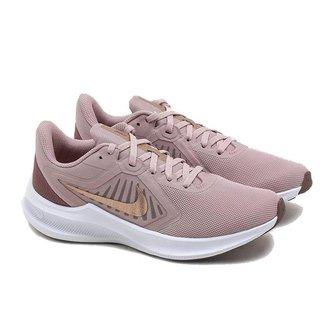 Tenis Nike Downshifter 10 Bege Feminino