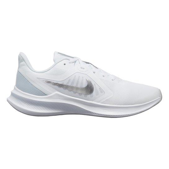 Tênis Nike Downshifter 10 Feminino - Branco+prata