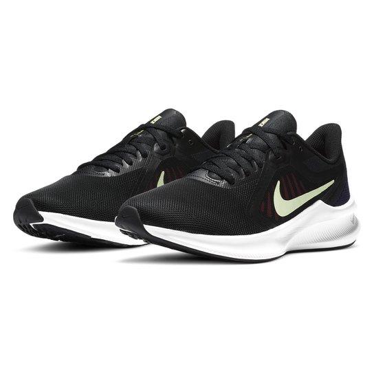 Tênis Nike Downshifter 10 Feminino - Preto+verde