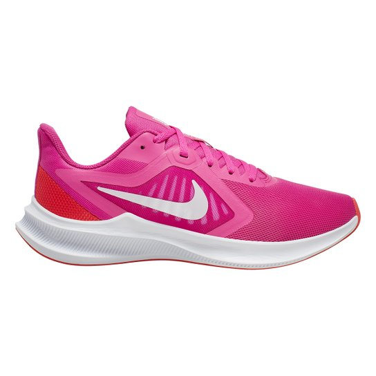 Tênis Nike Downshifter 10 Feminino - Pink+Branco