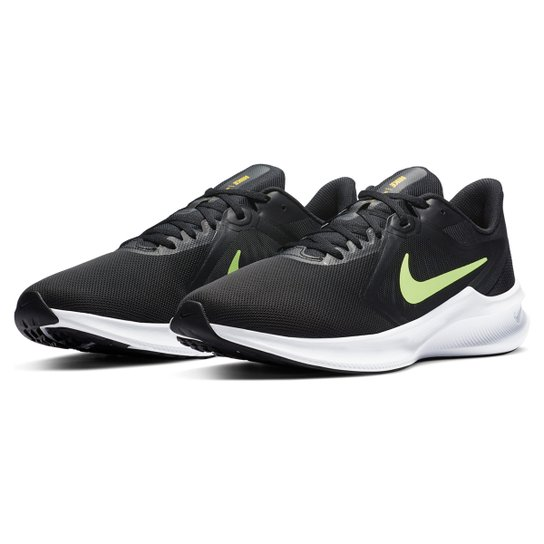 Tênis Nike Downshifter 10 Masculino - Preto+Off White