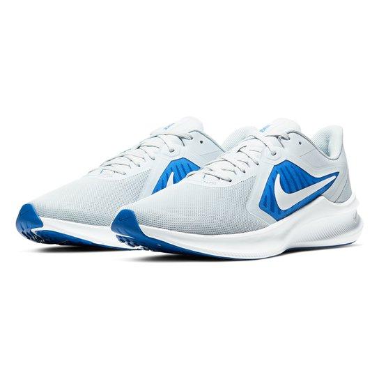 Tênis Nike Downshifter 10 Masculino - Cinza+Azul