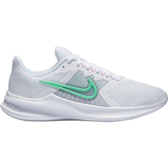 Tênis Nike Downshifter 11 Feminino - Branco+Verde