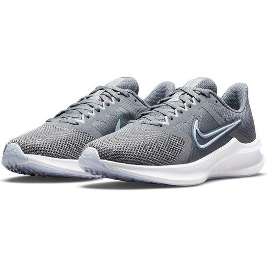 Tênis Nike Downshifter 11 Feminino - Cinza+Azul