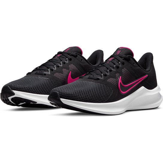 Tênis Nike Downshifter 11 Feminino - Preto+Rosa