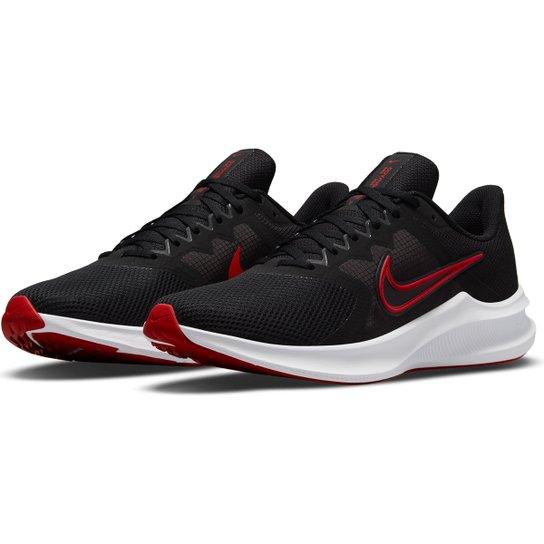 Tênis Nike Downshifter 11 Masculino - Preto+Vermelho