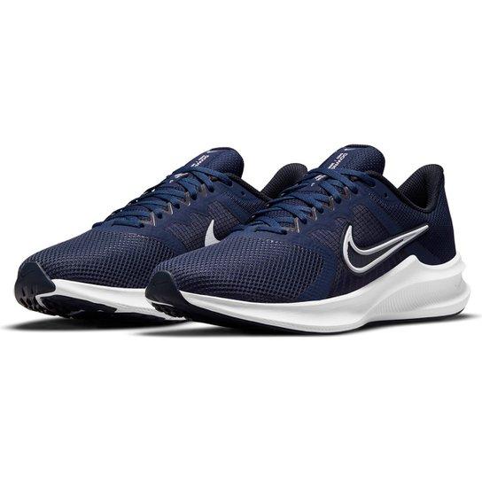 Tênis Nike Downshifter 11 Masculino - Marinho+Branco