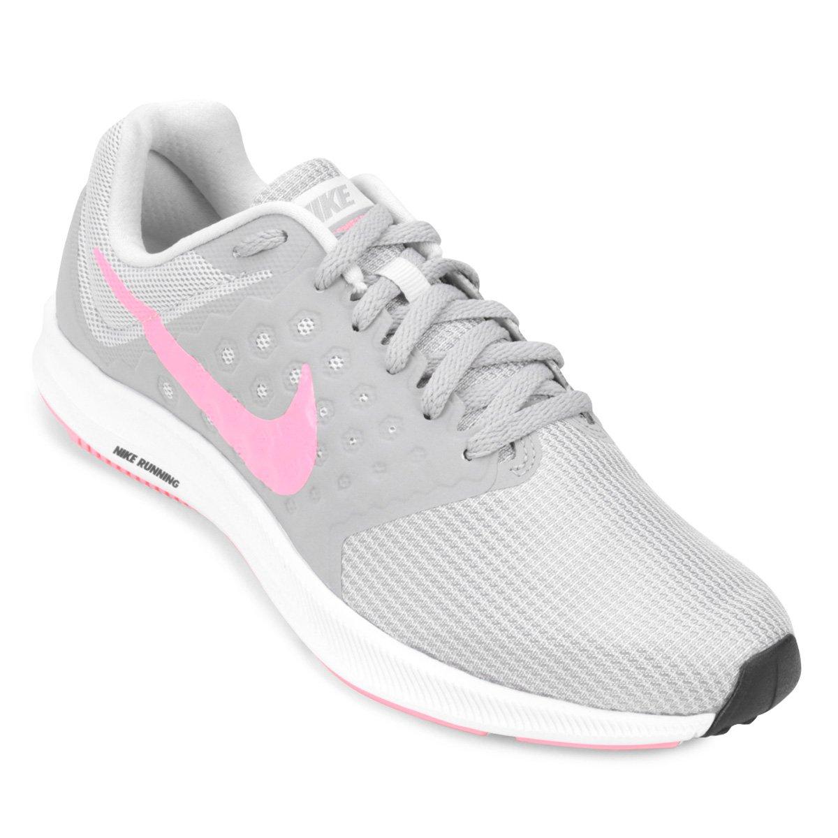 Tênis Nike Downshifter 7 Feminino Cinza E Rosa
