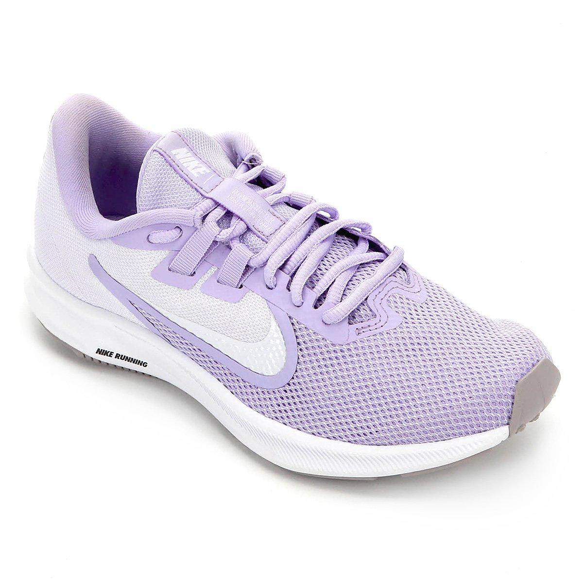 Tênis Nike Downshifter 9 Feminino Roxo E Branco