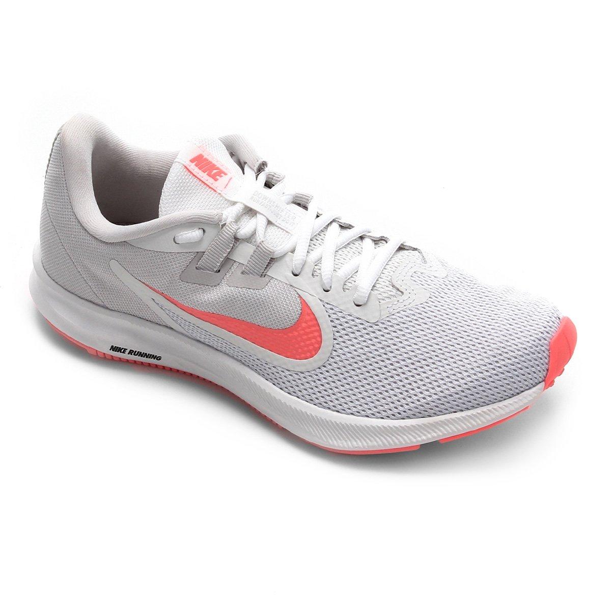 Tênis Nike Downshifter 9 Feminino Branco E Rosa