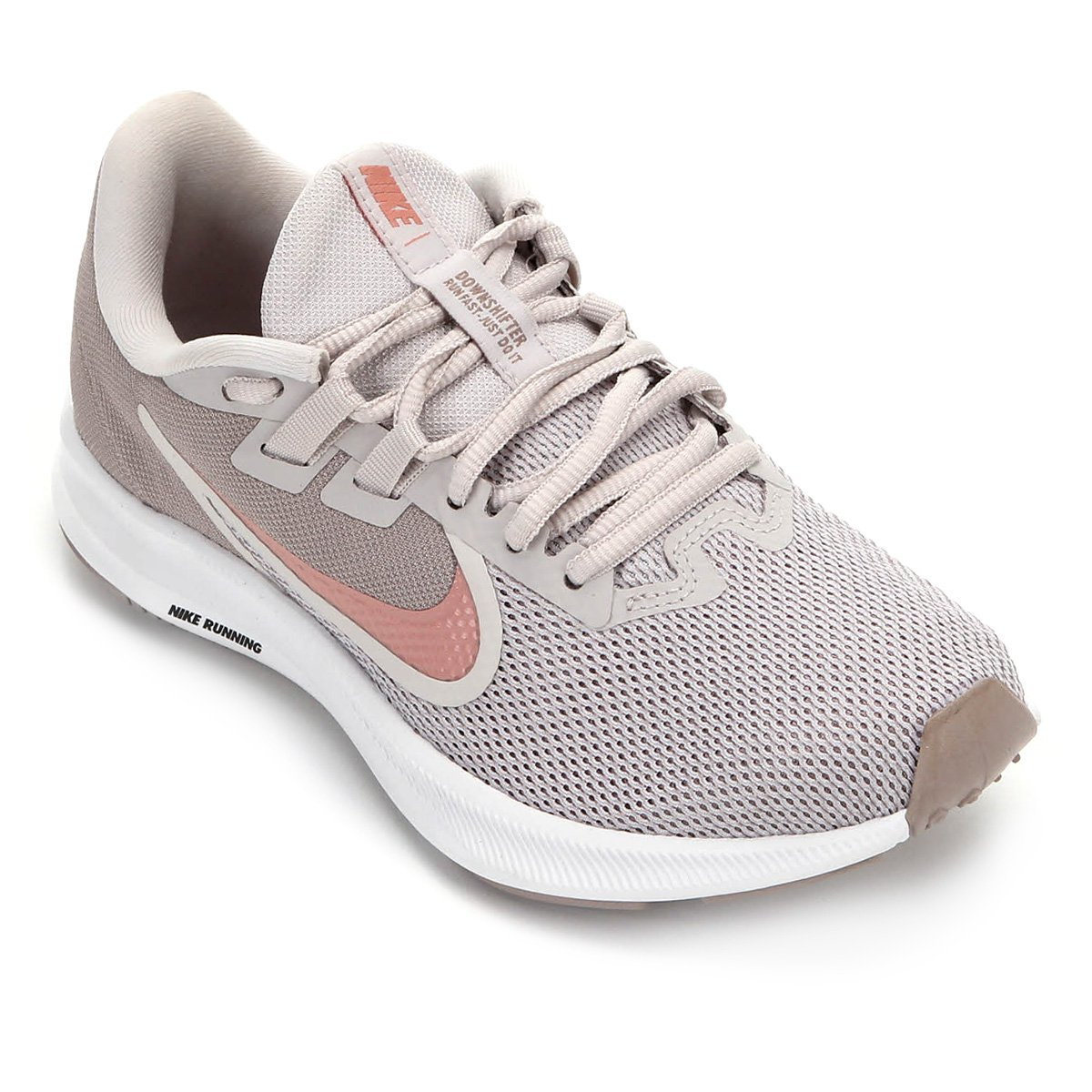 Tênis Nike Downshifter 9 Feminino Cinza E Rosa