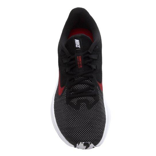 Tênis Nike Downshifter 9 Masculino - Preto+Vermelho